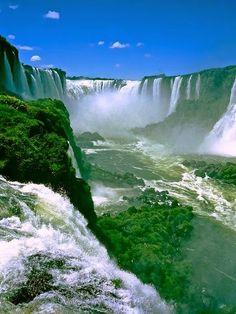 The falls divide the river into the upper and lower Iguazu. The Iguazu River rises near the city of Curitiba.                                                                                                                                                                                 More