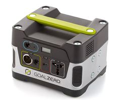 Goal Zero Yeti 150 Solar Generator; For unexpected power outages or missions that take you off the grid, this portable, solar powered generator provides power to recharge laptops, phones, cameras, and lights, plus thousands of other electronics, with outlets for 12V, AC, and USB. The generator gets a full charge in 4 hours from a wall outlet or car charger in 5-6 from the sun, providing enough juice to keep everything up running until power is restored. Available Spring 2013.