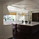 kitchens - white dark mahogany hardwood coiffered ceilings