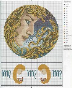 Descargarpatróndelhoróscopode virgo que empieza eldía23/8 al 22/9.     Para ver el resto de los signos del horóscopo en punto de cruz...