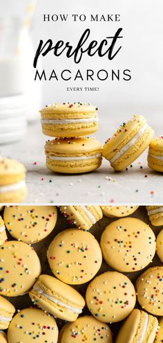 This easy step-by-step guide on How to Make Macarons, will have you well on your way to becoming a macaron master! I compiled these tips & tricks from everything I have learned over the years about the art of making macarons. Through trial and error I have found what works, what doesn't, and ways to ensure success time after time. #macarons #howtomakemacarons #italianmethod #italianmethodmacarons #howtomakefrenchmacarons #frenchmacarons #macaron #macaronguide #macaronhowto #macaronsrecipe…