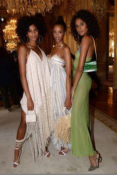 Aya Jones — Imaan Hammam, Aya Jones, and Cindy Bruna backstage. African Beauty, African Women, African Fashion, Black Girl Fashion, Look Fashion, Fashion Beauty, My Black Is Beautiful, Beautiful People, Beautiful Women