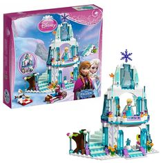 32.87$  Watch now - http://aic6d.worlditems.win/all/product.php?id=32732001671 - Disney Frozen 297Pcs Elsa's Sparkling Ice Snow castle Anna Olaf Princess Model Building Blocks Brick Girl With Toy