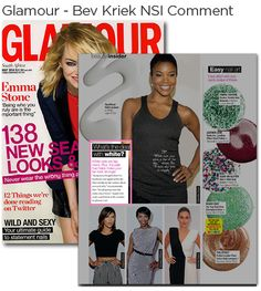 NSI Educator, Beverly Kriek's NSI comment in Glamour Magazine. Glamour Magazine, Emma Stone, Beauty Industry, News, Fit, Shape