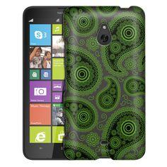 Nokia Lumia 1320 Paisley Green Black on Grey Slim Case
