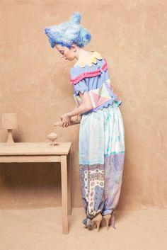 Garland blouse, Kerchief trousers 'A-Lu-Ha' - Lu Flux Spring Summer 2012