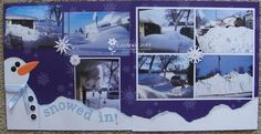snowy day scrapbook ideas | ... snow this year, I was asked to do a 'Snow' layout for Scrapbook Club