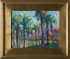 Date Palms II - Contemporary Impressionism | Landscape Oil Paintings for Sale by Erin Hanson
