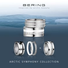 Arctic Symphony Collection; Twist & Change; Rings for women; BERING