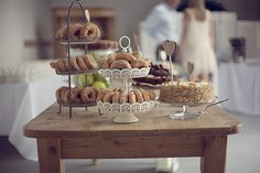 desert table - Read more on One Fab Day: http://onefabday.com/an-afternoon-tea-party-wedding-by-grace-photography/