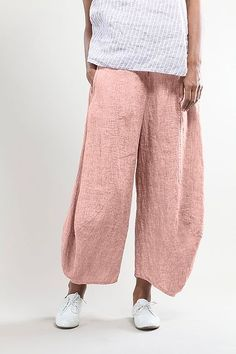 Trousers Galina wash -100% Linen