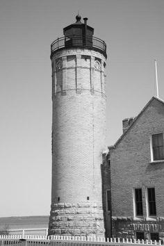 "Lighthouse - Mackinac Point Michigan.  ""The Fine Art Photography of Frank Romeo."""