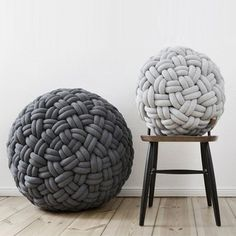 Knotty ottoman by Kumeko Design