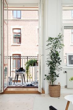 my scandinavian home: Spring has sprung in a lovely Swedish space Scandinavian Apartment, Scandinavian Interior, European Apartment, European Home Decor, Apartment Interior, Studio Apartment, Home Instead, Interior Styling, Backyards