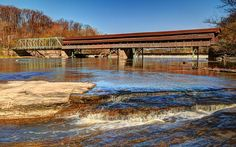 File:The Harpersfield Covered Bridge, Geneva, Ohio, USA