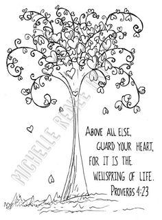 Bible Verse Coloring Page Job 2310 Digital Instant Download by