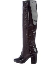 Chanel   Leather Knee-high Boots   Lyst