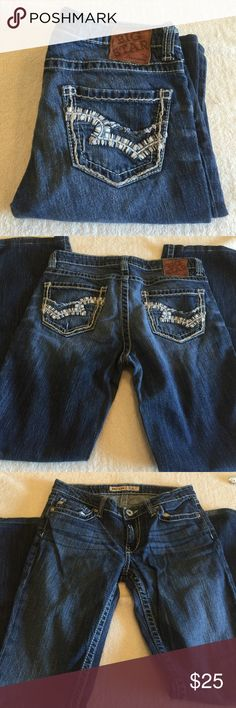 Big star Casey k Big star Casey k size 28 with a 29 inch inseam.   Waist measures 15 across rise is 7 inches. 99% cotton 1% spandex Big Star Jeans Boot Cut