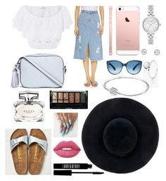 """""""Summer don't over - By Noa"""" by nono1806 on Polyvore featuring mode, SJYP, Miguelina, Tory Burch, Pandora, Eugenia Kim, Kate Spade, Gucci, Boohoo et Lord & Berry"""