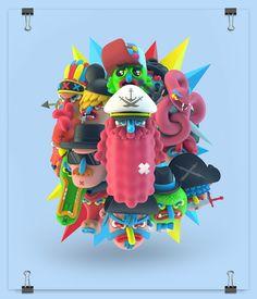 """Mucho Macho"" 3D Illustration series by #ElGrandChamaco"