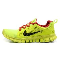 outlet store f4f59 bf8b6 Nike Free Powerlines Ii Mens Fluorescence Green Red Shoe Nike Frees  Sneakers off