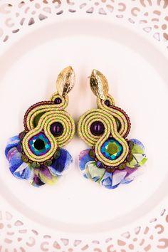 Soutache boho tassel stud earrings with swarovski crystals by nikuske on Etsy Teardrop Earrings, Crystal Earrings, Beaded Earrings, Statement Earrings, Crochet Earrings, Stud Earrings, Soutache Bracelet, Soutache Jewelry, Jewelry Party