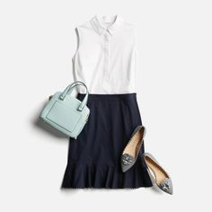 Pin by nila wiese on fashion styles stitch fix, stitch fix outfits, style. Stitch Fix Outfits, Trends 2018, Skirt Outfits, Cute Outfits, Work Outfits, Dress Skirt, Shirt Skirt, Navy Dress, Stitch Fit
