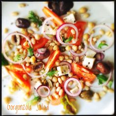 Gorgonzola and White Bean Salad with Chickpeas