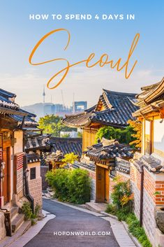 Here's a detailed 4 days in Seoul itinerary for the perfect mix of culture, architecture, nature, great food, and jaw-dropping photo spots. South Korea Seoul, South Korea Travel, Asia Travel, Places To Travel, Travel Destinations, Places To Visit, Four Seasons Hotel, Seoul Attractions, Seoul Travel Guide
