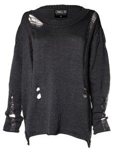 Destroyed Unisex Jumper - Disturbia Clothing