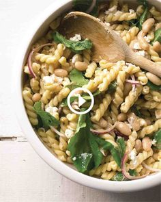 Pasta Salad with Goat Cheese and Arugula [i'll use ditalini, and less of it]
