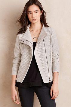 Textured Wool Moto Jacket #anthropologie