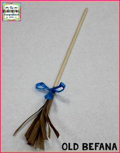 Christmas In Italy craft!  Old Befana broom craft for Holidays around the world!