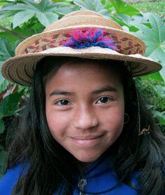 Pretty Guambiano girl. Silvia, Colombia.
