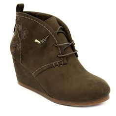 Sugar Maybe Baby Women's Wedge Ankle Boots, Size: medium (9.5), Green