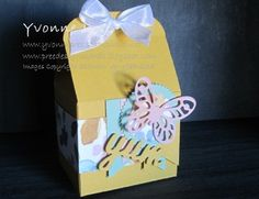 Bakers Box, Bold Butterfly Thinlits, Stampin' Up!, Yvonne Pree