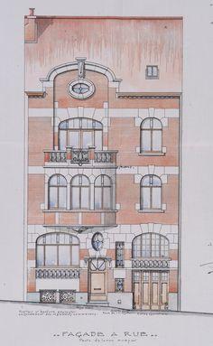 Bruxelles Extension Sud - Rue de l'Aurore 15 - HENROTAY F.