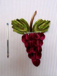 Cacho de uvas para aplicação   Wilma Crochê.Com   Elo7