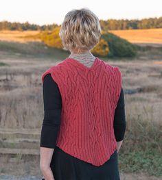 Ravelry: Branching River Tilde Vests: 3 styles pattern by Cat Bordhi