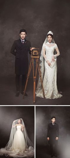 Vintage // Korean wedding photography // Bong Studio