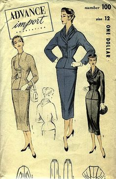 Advance 100 Suit | 1950s Advance Import Adaptation pattern