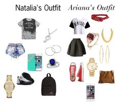 """""""Natalia & Ariana"""" by kingmisfitday on Polyvore featuring Kenzo, MANGO, :CHOCOOLATE, TAXI, Converse, MaBelle, Brooks Brothers, Eastpak, Michael Kors and Burberry"""