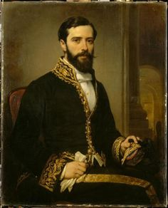 Portrait of Charles Theodule Deveria, 1864 by Eugene Francois Marie Joseph Deveria (1805-1865)