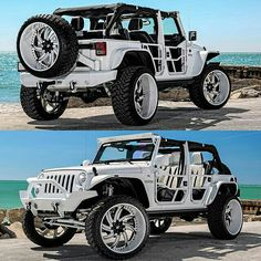 This is one seriously fucked up Jeep. Wrangler Jeep, Jeep Wrangler Unlimited, Jeep 4x4, Jeep Cars, Jeep Truck, Cool Trucks, Cool Cars, E Quad, White Jeep