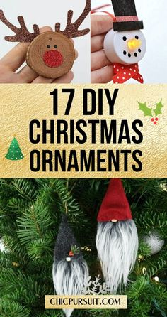 17 Fun & Simple DIY Christmas Ornaments For Kids To Make | Looking to make easy homemade Christmas ornaments that actually look GOOD? Well, you're in the right place! These amazing Christmas ornaments ideas are perfect for a beautiful tree that the whole family will love. #christmasornaments #diychristmasornaments #crafts #diy #ornaments #christmascrafts #christmascraftsforkids #christmasornamentsforkids #chicpursuit Christmas Crafts For Kids, Diy Christmas Ornaments, Homemade Christmas, All Things Christmas, Christmas Decorations, Christmas Holiday, Christmas Trees, Simple Diy, Easy Diy