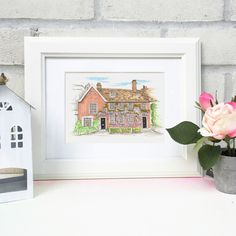 Are you interested in our Personalised House Portrait? With our Watercolour House illustration you need look no further. Advantages Of Solar Energy, Solar Water Heater, House Illustration, Illustrations, Solar Powered Lights, Solar Energy System, Heating Systems, Science And Nature, Illustration