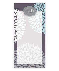 Take a look at this Grey & Blue Mum Monogram Notepad by Spark & Spark on #zulily today!