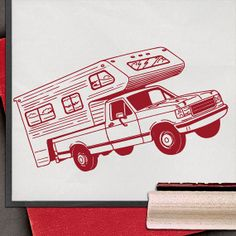 Camper Road Trip Rubber Stamp by lorddudleys on Etsy, $6.50