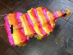Violin-shaped Piñata  www.daddydaddycool.com Violin, Shapes, Holiday, Projects, Fiesta Party, Log Projects, Vacations, Holidays Events, Holidays