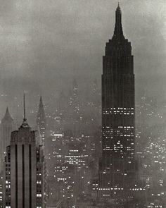 The Empire State Building, 1943. Photo by Andreas Feininger
